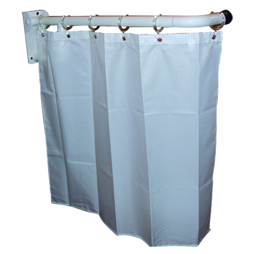 folding curtain bar left