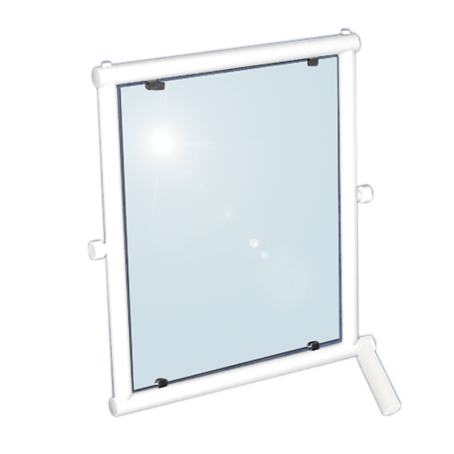 adjustable tilting mirror with handle