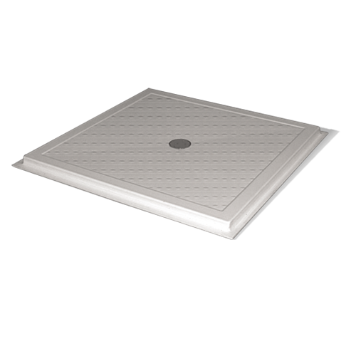 ABS floor level shower base with syphon drain