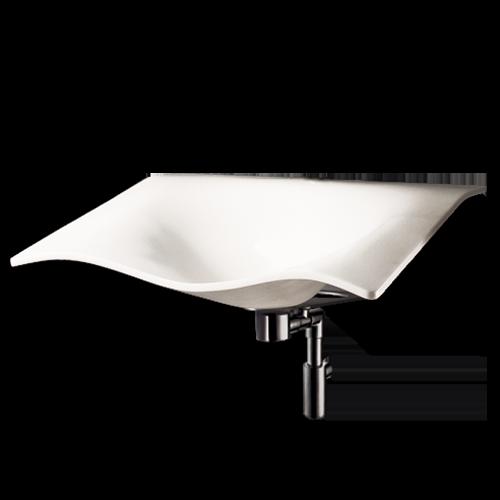Lavabo flight e staffa fissa premontata bianco standard