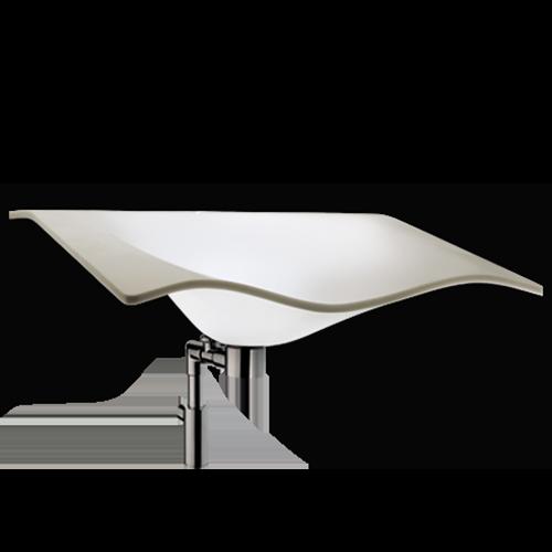 white translucent sink washbasin Flight with waste