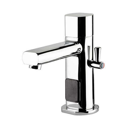 CHROME-PLATED ELECTRONIC MIXER FOR WASHBASIN - POWERED BY BATTERY