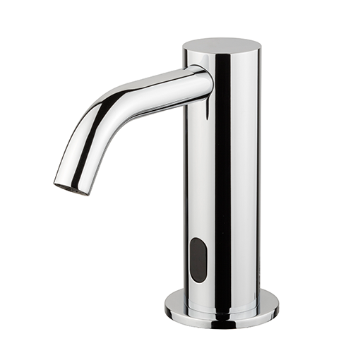 CHROME-PLATED ELECTRONIC TAP FOR WASHBASIN - POWERED BY TRANSFORMER