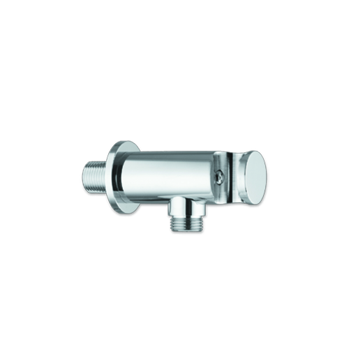 support with water inlet and safety valve for shower units