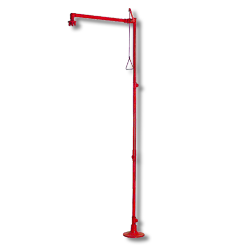 FLOOR MOUNTED EMERGENCY SHOWER