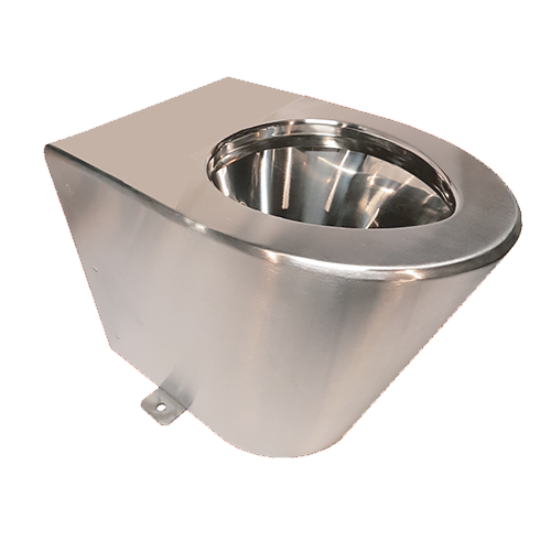 TOILET IN SATIN STAINLESS STEEL AISI304