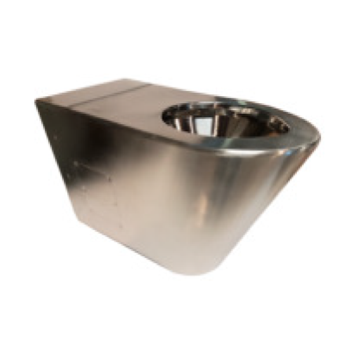 GLOSSY AISI304 STAINLESS STEEL WC