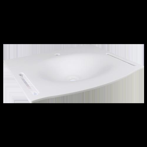 Lavabo flat62av bianco con staffa