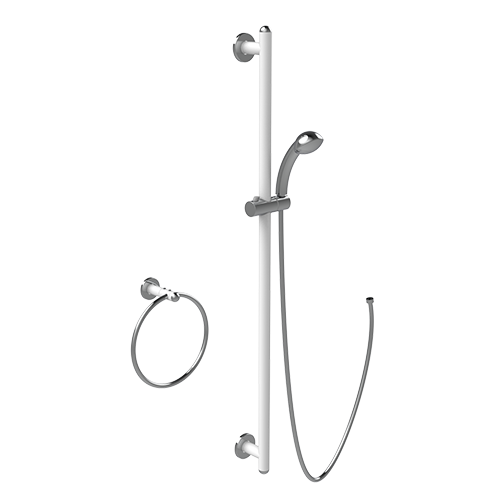 SLIDING SHOWER RAIL AND RING SERIES GIOTTO