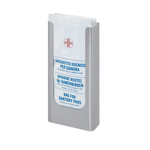 WALL-MOUNTED DISPENSER OF HYGIENIC BAGS, STAINLESS STEEL