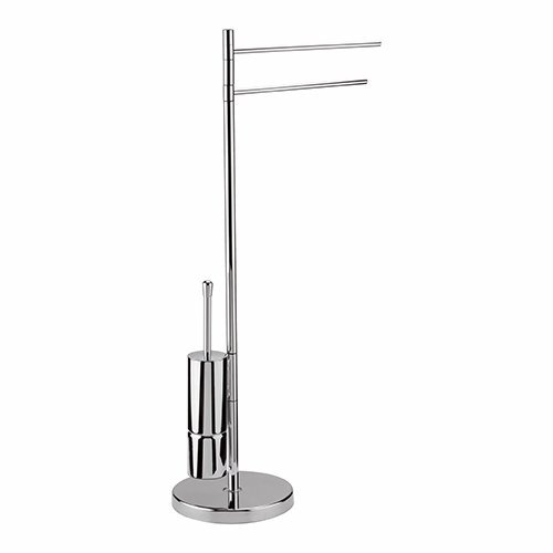 VERTICAL TOWEL HOLDER WITH TOILET BRUSH