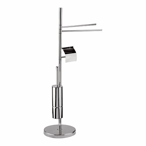 VERTICAL TOWEL HOLDER WITH PAPER HOLDER AND TOILET BRUSH