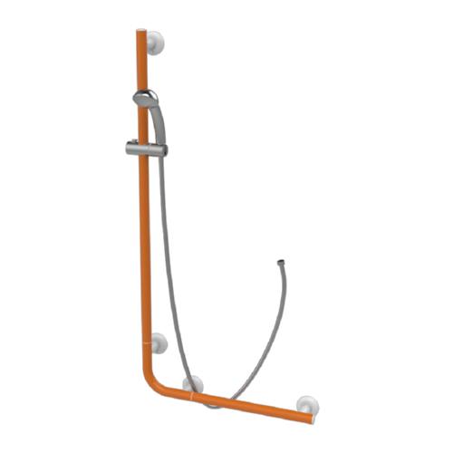 asideros para ducha con soporte serie leonardo 32mm