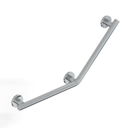 45° SAFETY HANDLE - 3 FIXING POINT SERIES LEONARDO DELUXE INOX CROMO