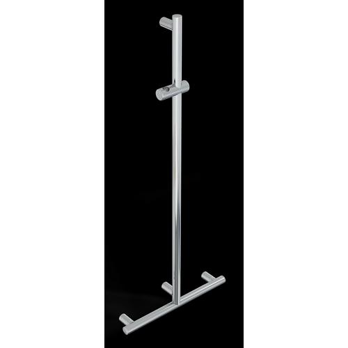 Barra en T con soporte ducha, VERTICAL EN LIBERA POSICIóN SERIE MIA INOX CROMO