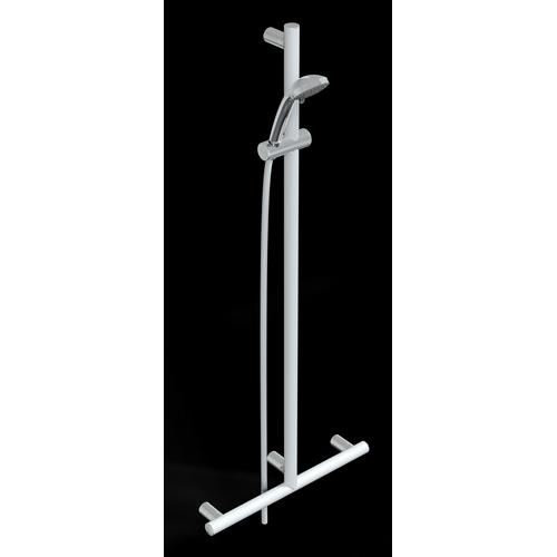 Barra en T con soporte ducha, VERTICAL EN LIBERA POSICIóN COMPLETA DE DUCHA SERIE MIA COLOR