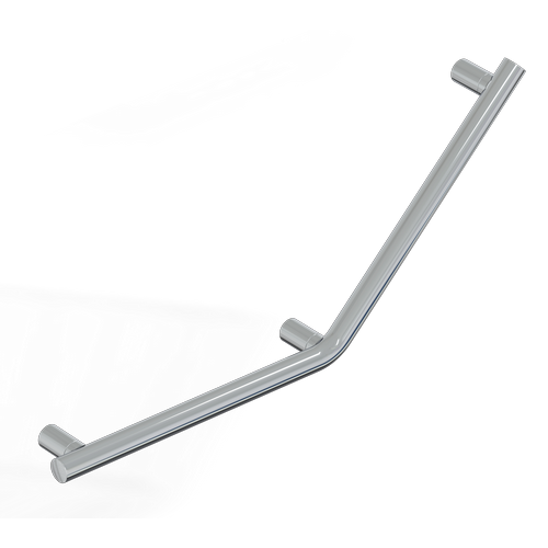 45° SAFETY BAR - 3 FIXING POINTS - MIA SERIES INOX CROMO