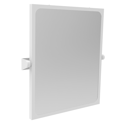 adjustable tilting mirror with accident-proof surface