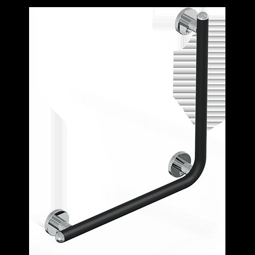 Maniglione con verticale serie raffaello color nero op./cromo