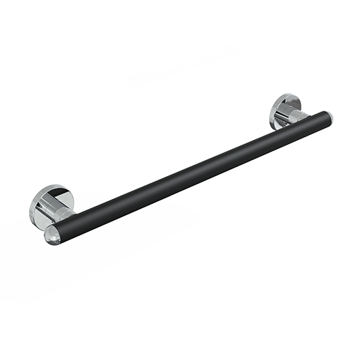 Maniglione cm.53 serie raffaello color nero op./cromo