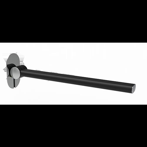 FOLDING BAR SHADE CM. 75 MATT BLACK/CHROME