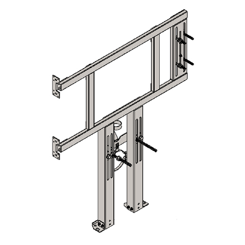 BRACKET FOR SUSPENDED WC AND R/L FOLDING BAR FOR PLASTERBOARD WALLS