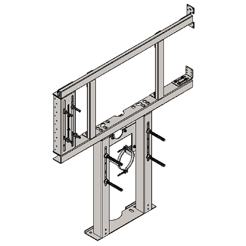 BRACKET FOR SUSPENDED MONOBLOC WC AND R/L FOLDING BAR FOR PLASTERBOARD WALLS
