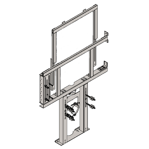 BRACKET FOR SUSPENDED MONOBLOC WC AND R/L FOLDING BAR AND UNIVERSAL WC-FLUSHING TANK FOR PLASTERBOARD WALLS