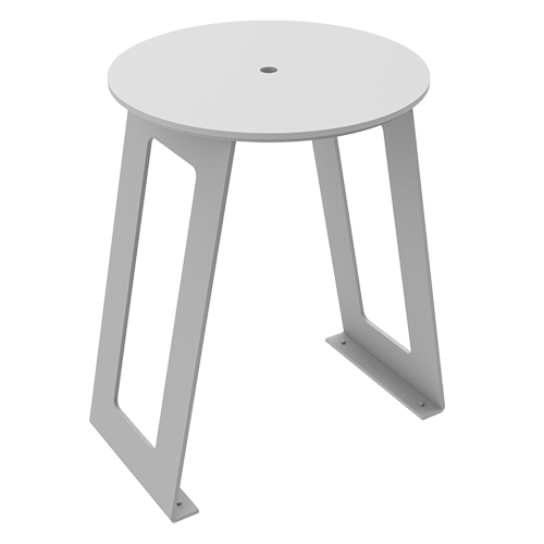ALUMINUM STOOL WITH PEHD SEAT