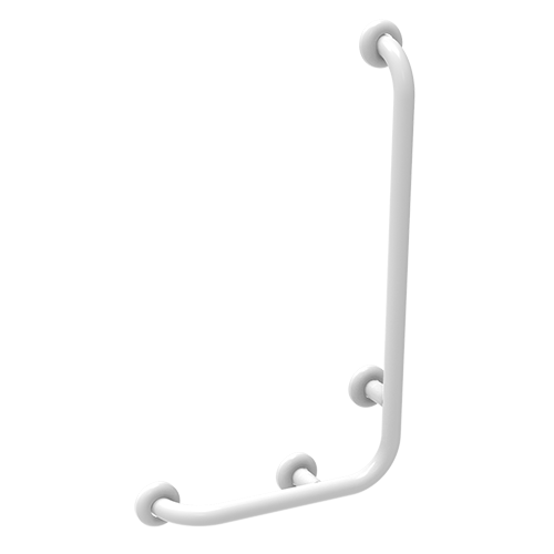 safety handle with universal right/left lateral vertical rod