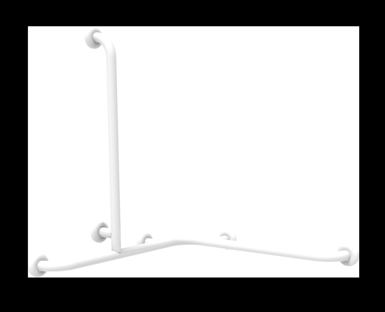 barre d'angle avec montant vertical latéral universel