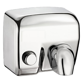Electric hand dryers, Electric hand dryers with push button
