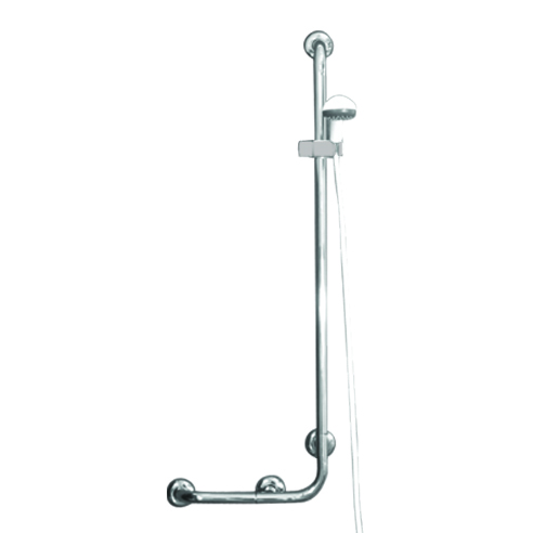 Asideros para ducha con soporte, Acero inoxidable 304 brillante - Ø32mm