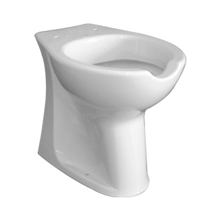 WC with frontal opening for elderly and disable people