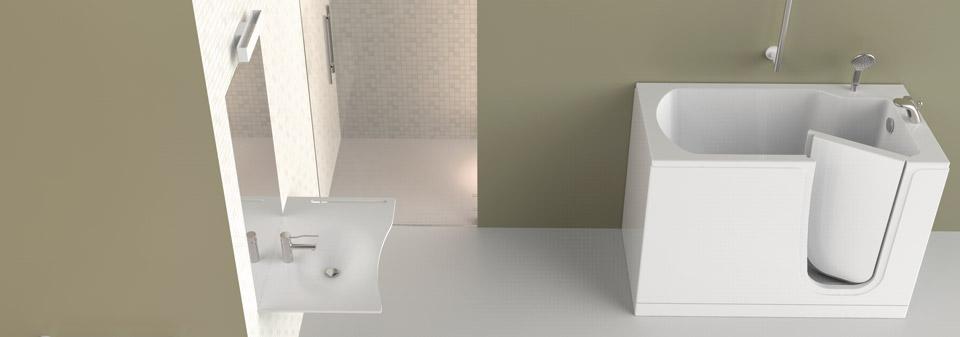 Contributi vasca con porta bagni disabili e anziani a - Porta per bagno disabili ...