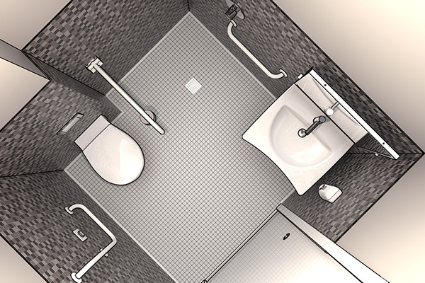 Design of bathrooms for hospitals