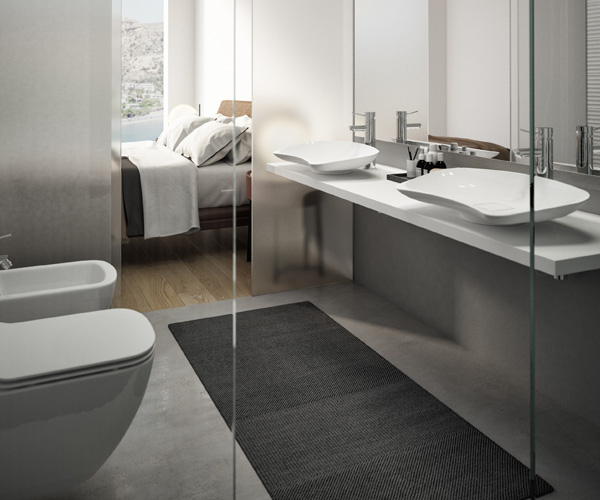 Design of easy access bathrooms for hotel rooms