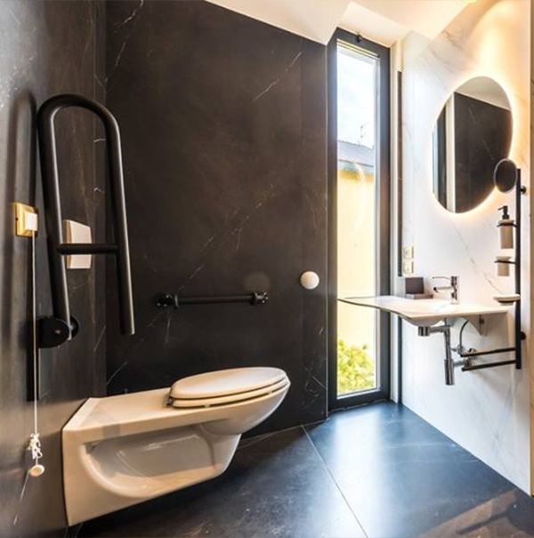 Easy access bathrooms for accommodation facilities