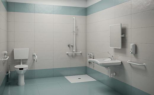 Conception et réalisation de salles de bain pour hôpitaux