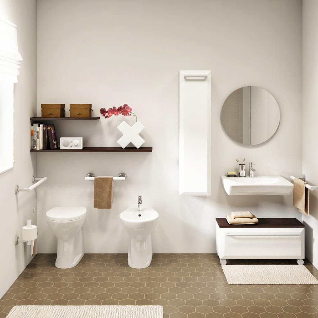 Bagni per anziani maniglioni seggiolini rubinetti - Accessori bagno disabili ...
