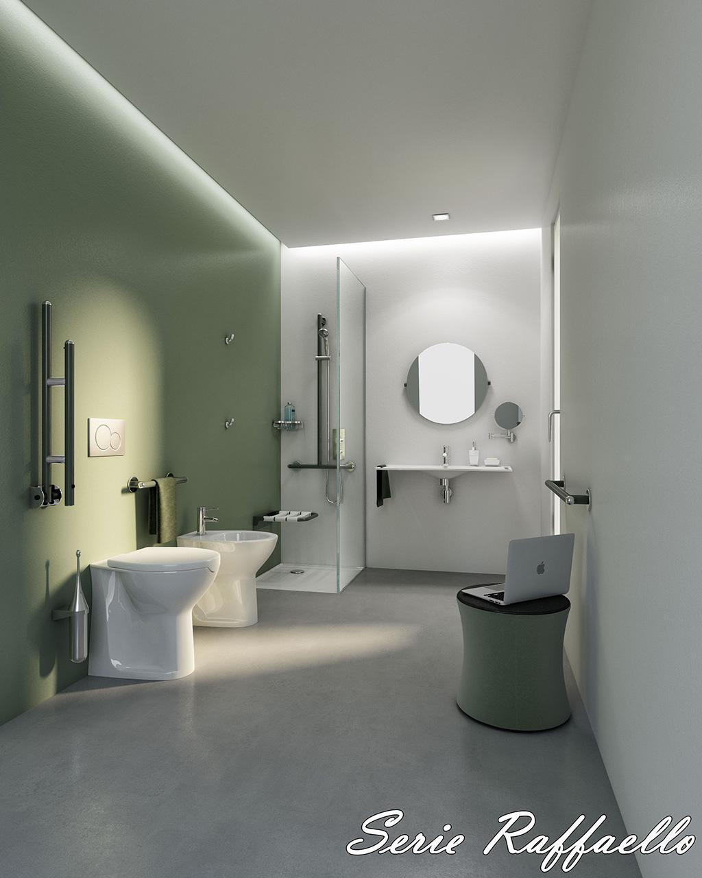 Bagni disabili di design aiuti d 39 arredo sicurezza ed eleganza - Accessori bagno disabili ...