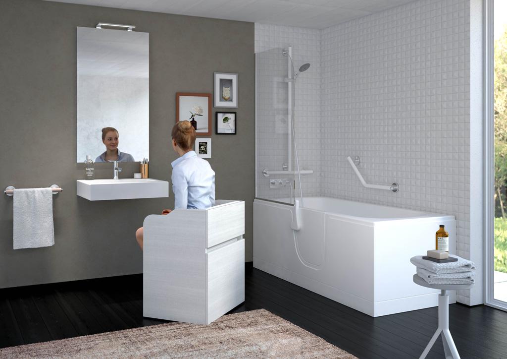 Bagni per anziani maniglioni seggiolini rubinetti - Come scaldare il bagno ...