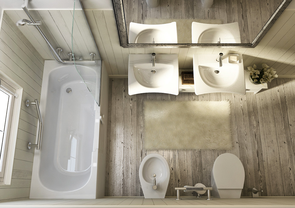 Bagni per anziani maniglioni seggiolini rubinetti - Vasche da bagno per anziani ...