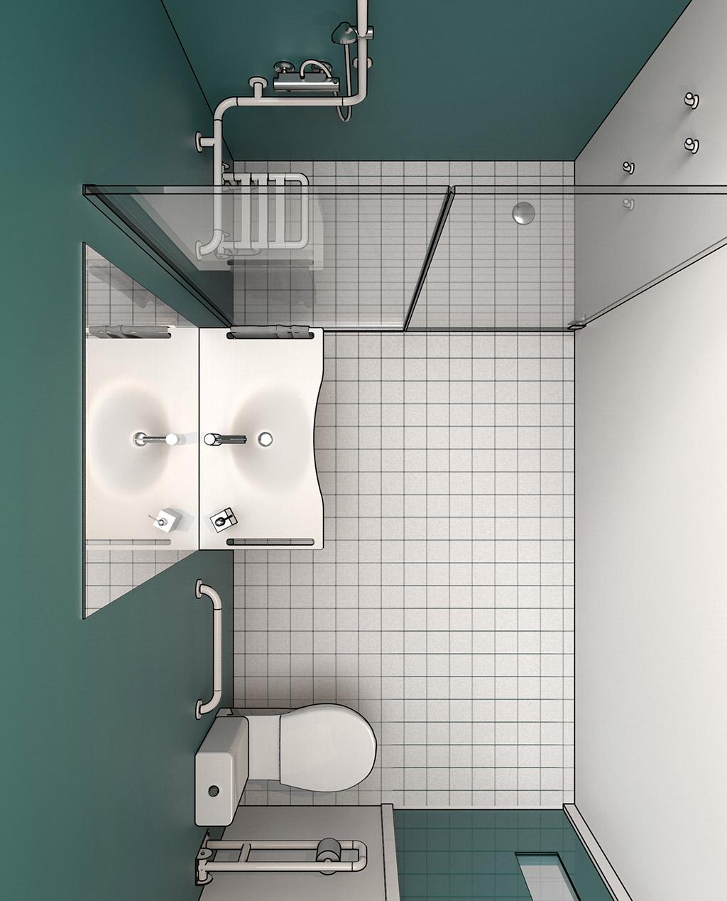 Normativa bagni disabili - Bagno disabili con doccia ...