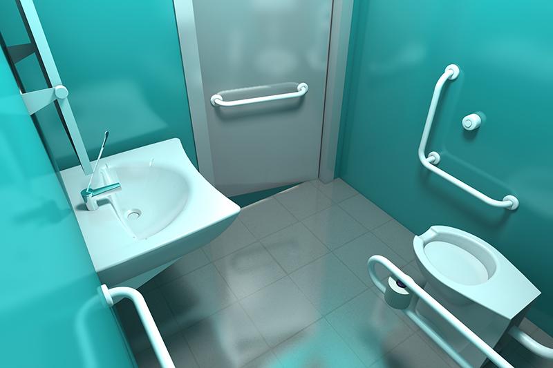 Vasca Da Bagno Handicappati : Bagno per disabili free bagno moderno in composito per disabili