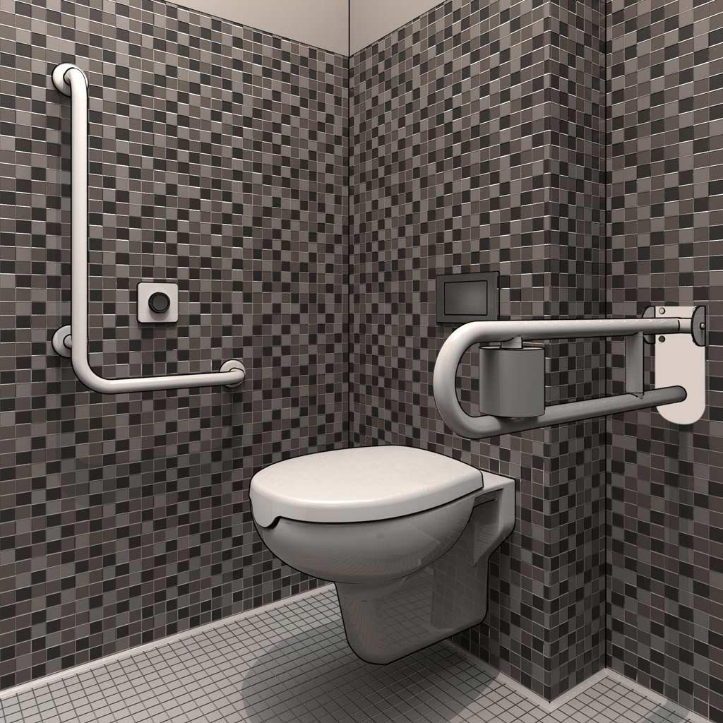Normativa bagni disabili for Wc immagini