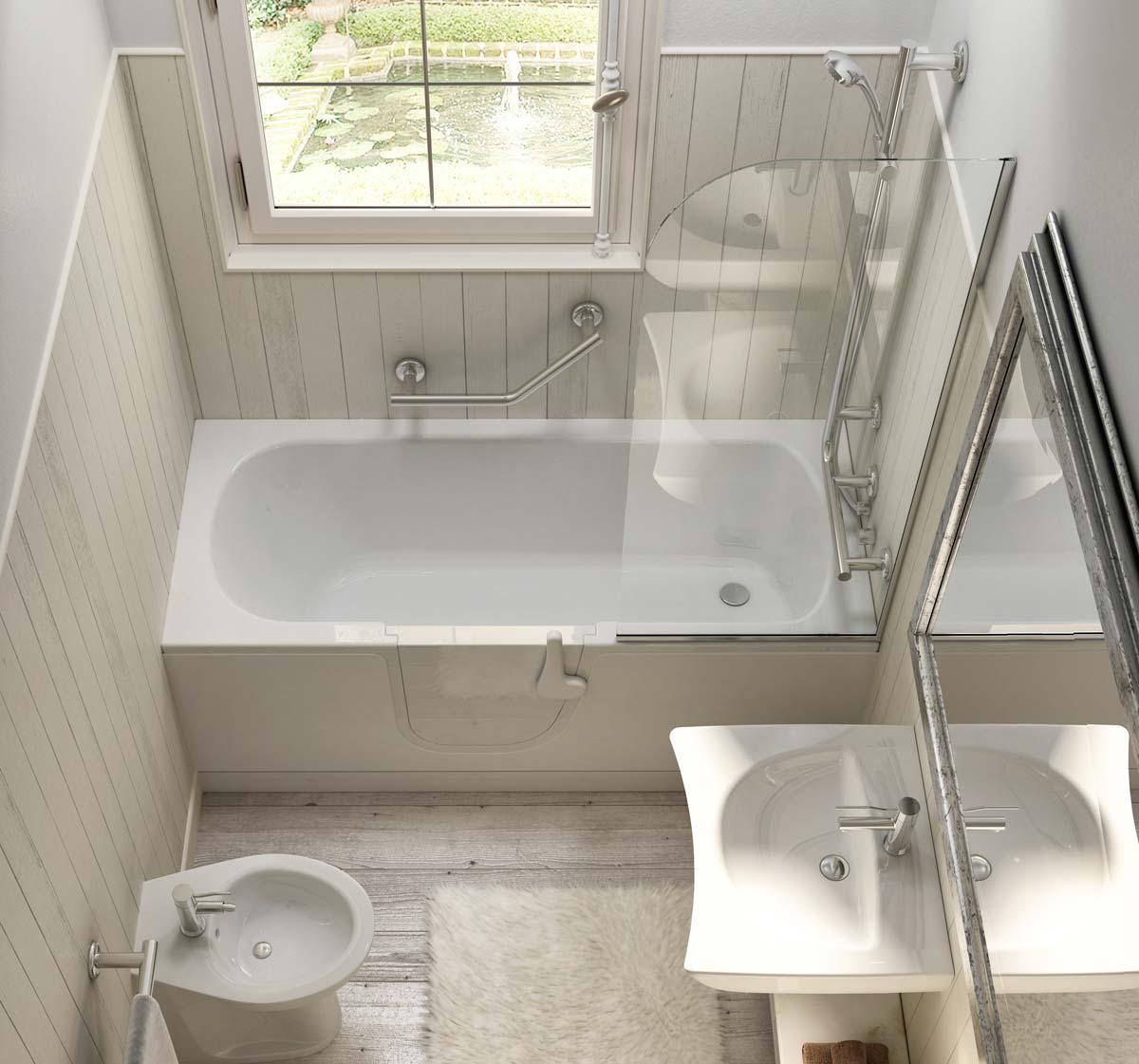 Vasca con porta per anziani goman - Porta vasca da bagno ...