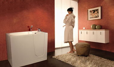 bathtubs provided with doors