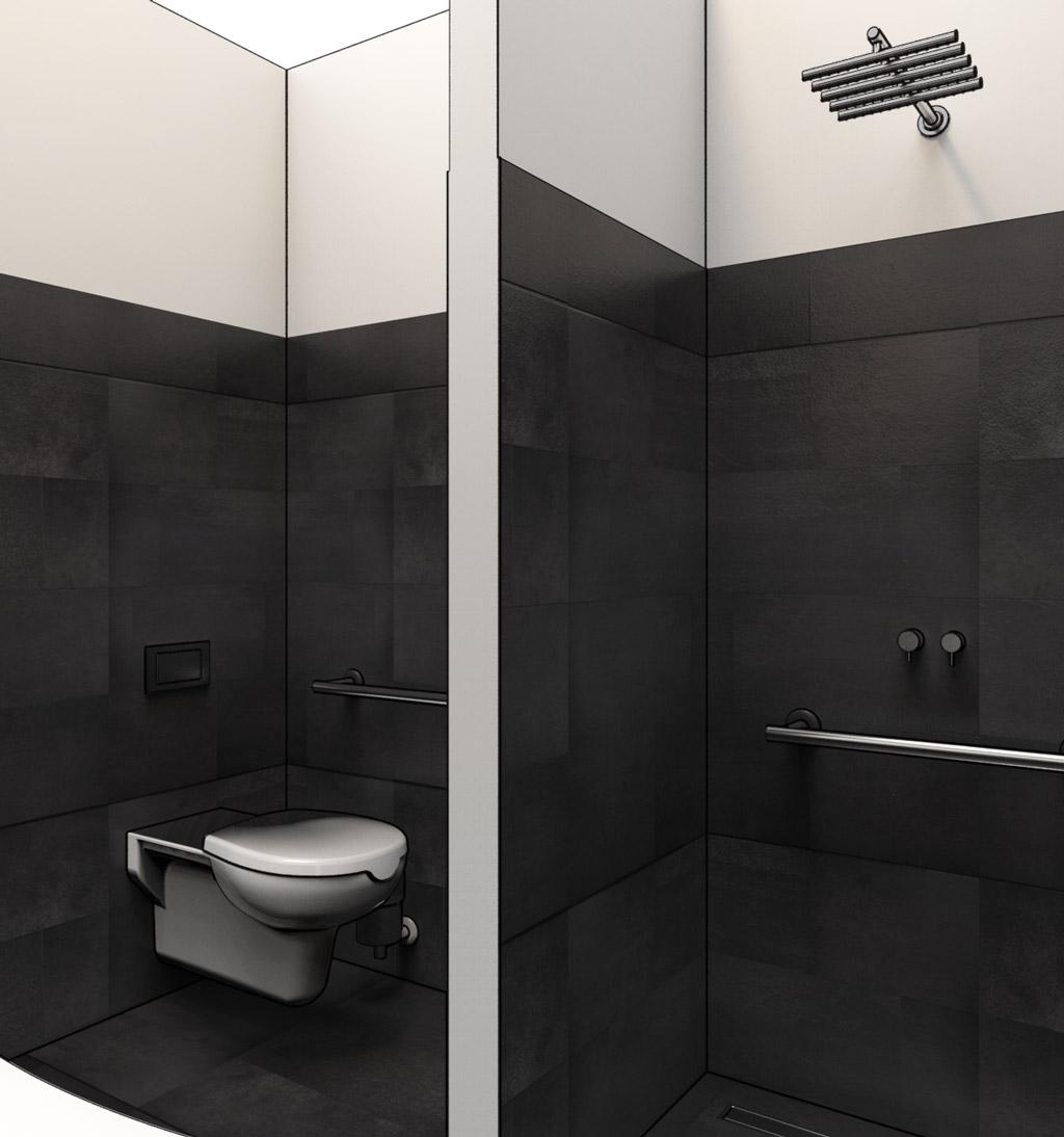 Progettazione dwg bagni disabili disegni in 3d - Planner bagno 3d ...