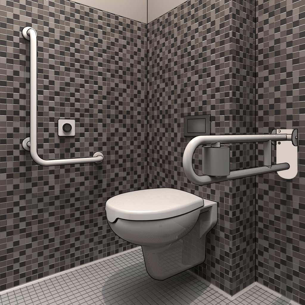Progettazione dwg bagni disabili disegni in 3d for Progettare bagno 3d online